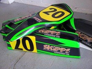 sponsoring go kart driver decals