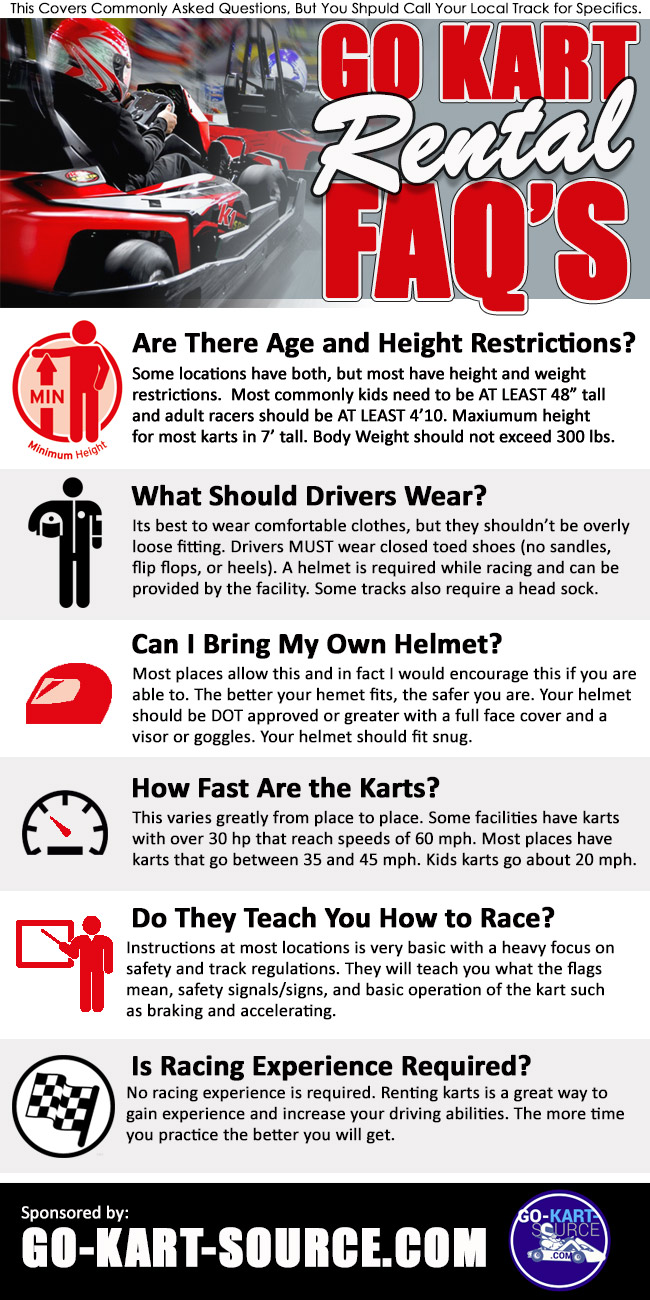 Go Kart Rental FAQ